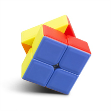 Newest Solid Color frosted Matte fidget Magic Cube 2 * 2 * 2 No Stickers Puzzle Neo Cube Learning & Education Toy for Kids Adult
