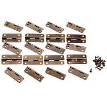 20Pcs 30x17mm Antique Bronze Cabinet Hinges for Caskets Furniture Accessories Drawer Hinges for Jewelry Boxes Furniture Fittings