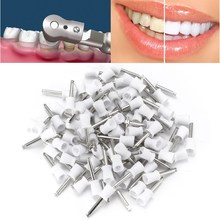 New 100PCS Dental Polishing Polish Brush Flat Latch Type Prophy Rubber Cup White Rubber Dentist Lab Products Teeth Whitening