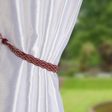 Pair Of Braided Window Curtain Buckle Strap Band Curtain Tied Rope Decorative Plaited Tying Rope Knitted Curtain Tieback Holder