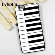 LvheCn phone case cover fit for iPhone 4 4s 5 5s 5c SE 6 6s 7 8 plus X ipod touch 4 5 6 Piano Keyboard Key(China)