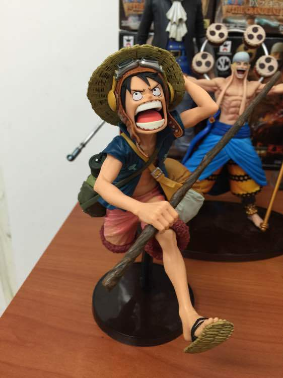 ONE PIECE SC Top Battle Big Mouth Hat Luffy Model PVC Action Figure Collectible Onepiece Model Toy 15CM<br><br>Aliexpress