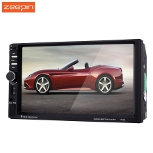 7 inch Car Video DVD Player 7060B 2din 1080P Car Radio Player with Rearview Camera Car MP5 Player Support Microphone(China)