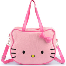 Women Hello Kitty Handbags New Girl Make Up Pouch Large Capacity Travel Bags Ladies Shoulder Bag
