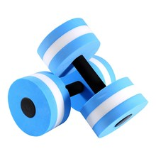 EVA Portable Aerobics Dumbbell Foam Pool Fitness Exercise Aquatic Barbell Indoor Water Sports Aerobice Exercise Dumbell(China)