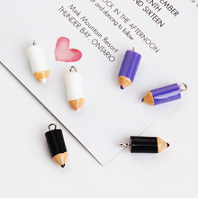 MRHUANG 10pcs/lot  Resin 3D Pencil Enamel Charms Pendant Bracelets Jewelry finding DIY Craft  so cool