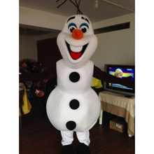 Hot For Adult Olaf Snowman Mascot costume Fancy Dress Halloween Party Suit