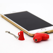 Universal 3.5mm Red Love 2 IN 1 Couple Audio Splitter Headphone Splitter Adpater Earphone Accessories Music Sharing Device