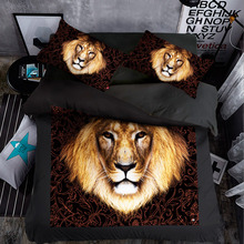 Promotion 3D Bedding Sets Animals King Size Duvet Cover Tiger Luxury Soft Bed Linen Wholesale/Dropshipping SJT090