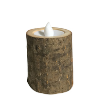 Rustic Wooden LED Candle Tea Light Holder Candle Holder Wedding Party Decors Led Night Light Romantic Lighting