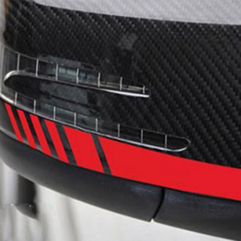 1Pair Car Accessories Rearview Mirror Carbon Fiber 5D Sticker Vinyl Stripe Decal