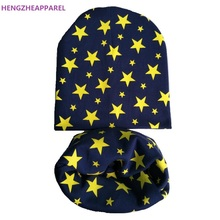 New Casual Crochet Children Hats Caps Autumn Winter Cotton Hat Beanies Toddlers Boys and Girls Cap Kids Hat Scarf Collars(China)