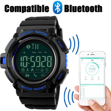SKMEI Brand Watches Men Bluetoot Remote Camera Smart Sport Watch Man Call Message APP Reminder Smart Clock For IOS Android Phone
