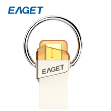 EAGET CU66 Type-C USB Flash Drive 16GB 32GB 64GB Pendrive Mini Portable Memory Stick Pen Drive For Smartphone Laptop Macbook PC