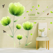 Lotus Poster Butterfly wall mural stickers for wall for Love Joy flower sticker Decal Poster Heart Home Decor
