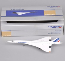 Concorde 1:400 Scale Air France 1976-2003 Diecast Metal Airplane Model Toy Vehicles White Mini AirPlane Aircraft  Kids Toys