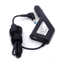 19V 4.74A 5.5*1.7mm Car Power Supply Adapter for Acer Aspire/ASUS/Lenovo/HP laptop,with 5V USB mobile phone.