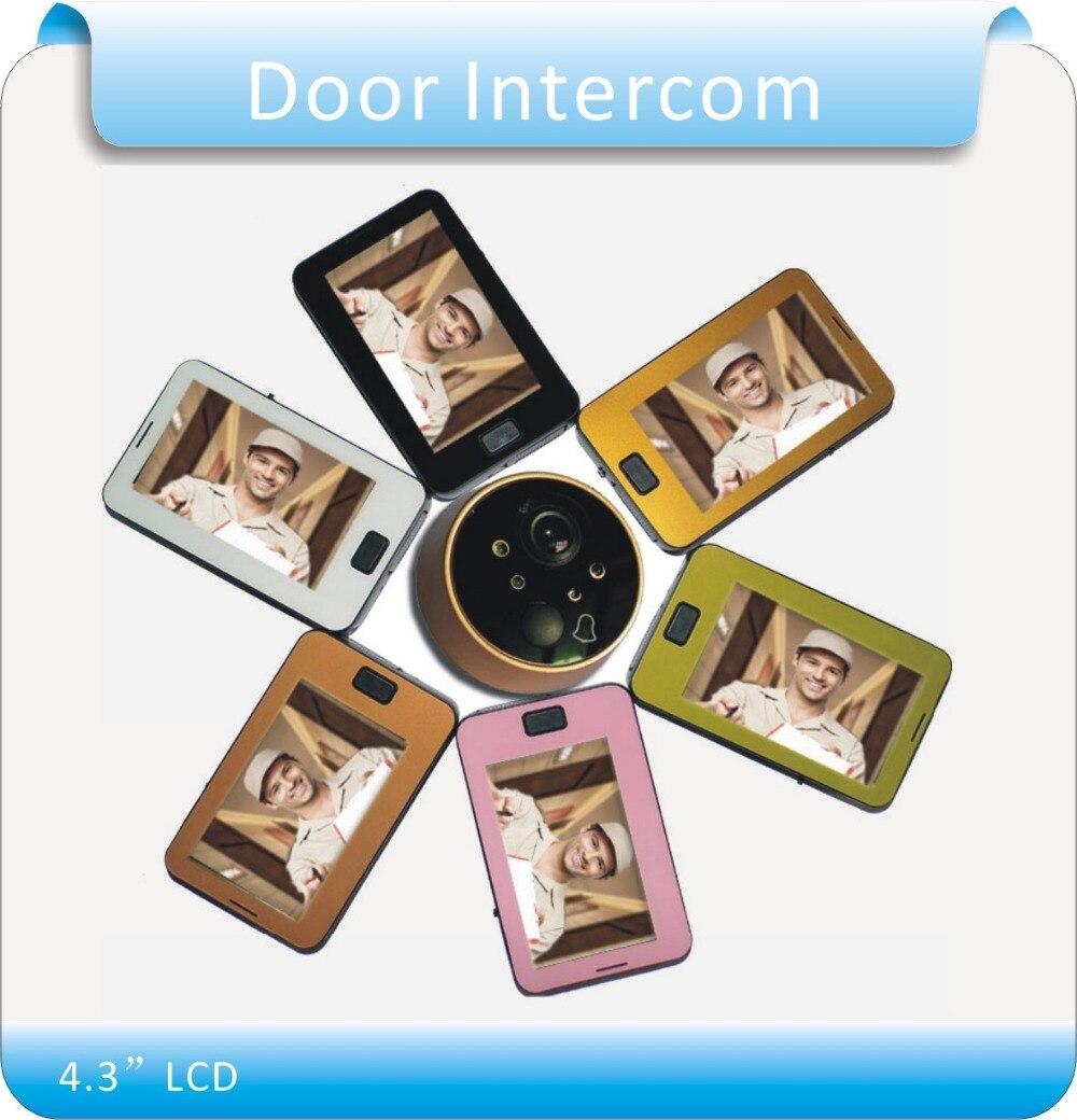 Free shipping 4.3 LCD Video Door Phone Doorbell Intercom IR Camera Monitor Electric Strike /Video door intercom<br>