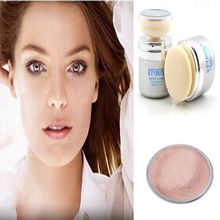 Shimmer Pure Mineral Power Foundation 2 In 1 Sponge Facial Make-up Powder Hot