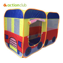 Actionclub Kids Tent Children Crawl Bus Pattern Tent Indoor Baby Foldable Play Game House Tent Outdoor Polyester Beach House