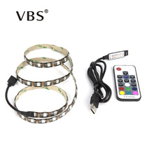 5050 RGB USB LED Strip TV Background Light Lamp 5V led strip with 17Key RF Controller or Mini 3Key Controller IP65 IP20 Led tape(China)