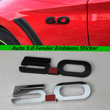 Auto 5.0 Fender Emblems Sticker for For Mustang GT 5.0 2011~2014 Chrome Black Car 3D Sticker Badge Decals Accessories