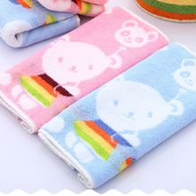 1 Pcs 25x50cm Newborn Toddler Cute Washcloth Face Towel Bathing Feeding Wipe Cloth Healthy Infant Baby Comfortable Towel(China)