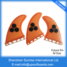Wake Board Free Shipping SUP Board Fins M Size Orange Fiberglass Future Fins de Surfing Quilhas