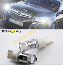 2x  6000K White High Power For CREE Chips   LED  Front Parking Light & Day Time Running Light DRL Light Source For Opel Insignia