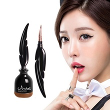 Feather Shape Air Cushion Liquid Eyeliner Pencils Waterproof Long Lasting Smooth Black Brown Make Up Eye Liner Pen Cosmetics(China)