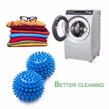 2pcs Reusable Dryer Balls Replace Laundry Drying Fabric Balls Magic Grabbing Laundry Washing Clothes Softener Laundry Balls(China)