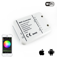 Original 16Million colors Wifi 5channels RGB/WW/CW led controller smartphone control music and timer mode wifi led controller(China)
