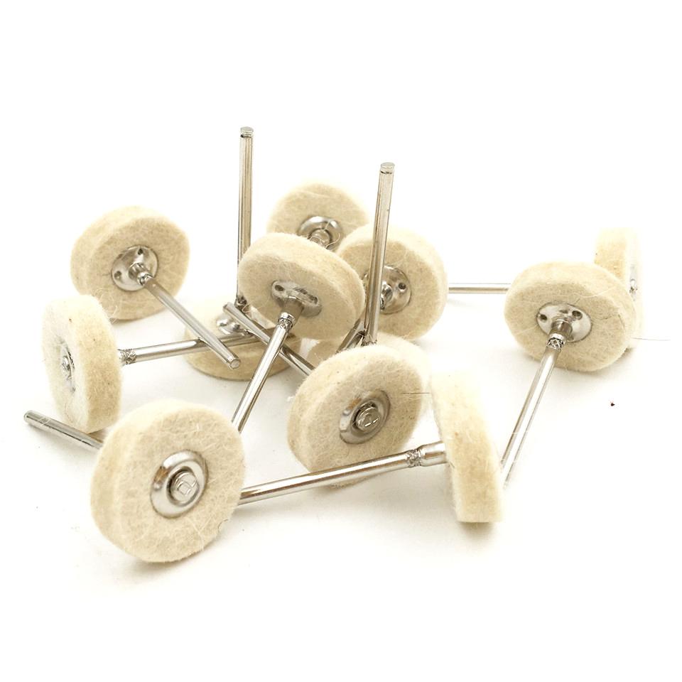 12pcs Felt Mounted Abrasive Polishing Wheel for Dremel Rotary Tools Accessories Abrasive Brush Wood Metal Glass Polishing Brush