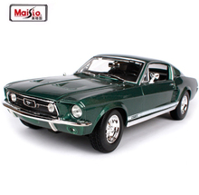 Maisto New 1:18 1967 Ford Mustang GTA Fastback Muscle Alloy Car model Diecast Model Car Toy With New In Box Free Shipping(China)