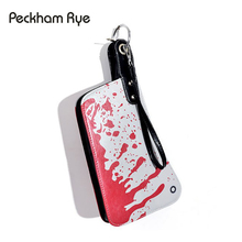 PECKHAMRY women funny bag evening clutch fashion women's handbags bags blood choppers handbag creative phone package leather bag(China)