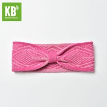 2017 KBB Spring Comfy Cherry Deep Pink Checkered Style Lambswool Women Men Children Winter Knit Headband Hair Accessories(China)