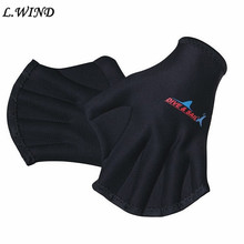 Sports Swimming Paddle Gloves Hand Webbed Swim Training Diving Gloves Equipment Surfing Water Swimming Gloves S266(China)