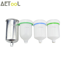 AETool 600ML/1000ML Plastic Spray Gun Pot Container For SATA jet 1000B 4000B H827 H887 G2008 Spray Gun HVLP Spray Paint Gun Gup(China)
