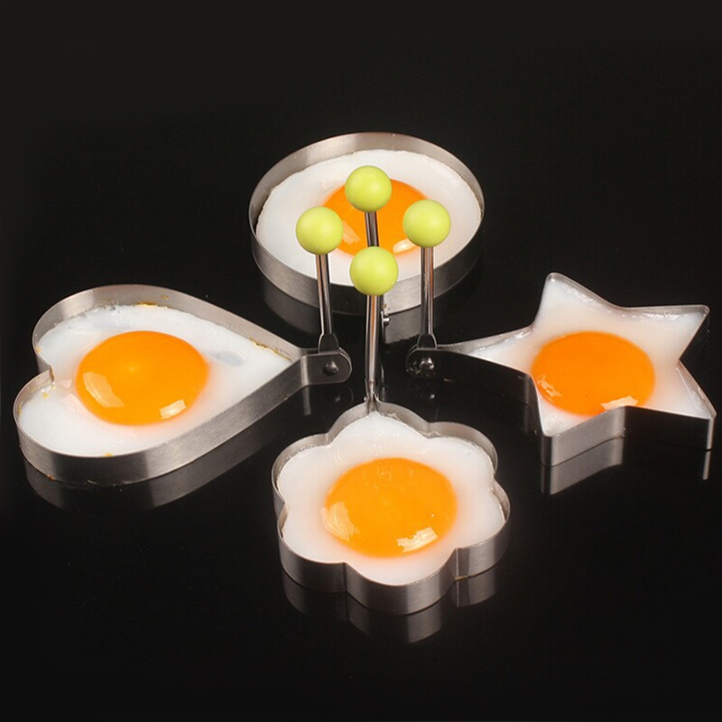Stainless steel form for frying eggs tools omelette mould device egg/pancake ring egg shaped kitchen appliances(China (Mainland))