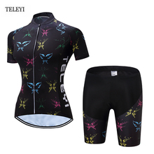 Buy 2017 TELEYI Team Women Riding Short Sleeve Ropa Ciclismo Bike Bicycle Clothing Cycling Jersey +Bib Shorts Sets XS-4XL for $22.94 in AliExpress store