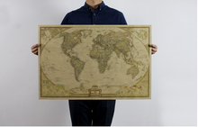 73*48 cm Large Chart Retro Paper Matte Kraft World Map wallpaper Home Decoration Detailed Antique Poster Wall sticker