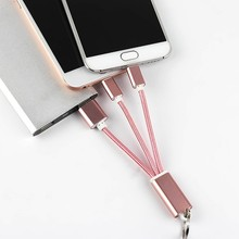 3in1 Android IOS Fast Quick Charge Cable micro usb ios sync data hub wire for iPhone 5C 5S 5 6S 6 Plus samsunng galaxy htc sony