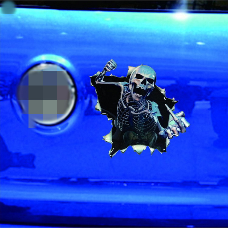 New-Funny-Car-Sticker-Skull-Car-Hoods-Trunk-Thriller-Rear-Window-Decal-Car-Decal-Covers-Waterproof