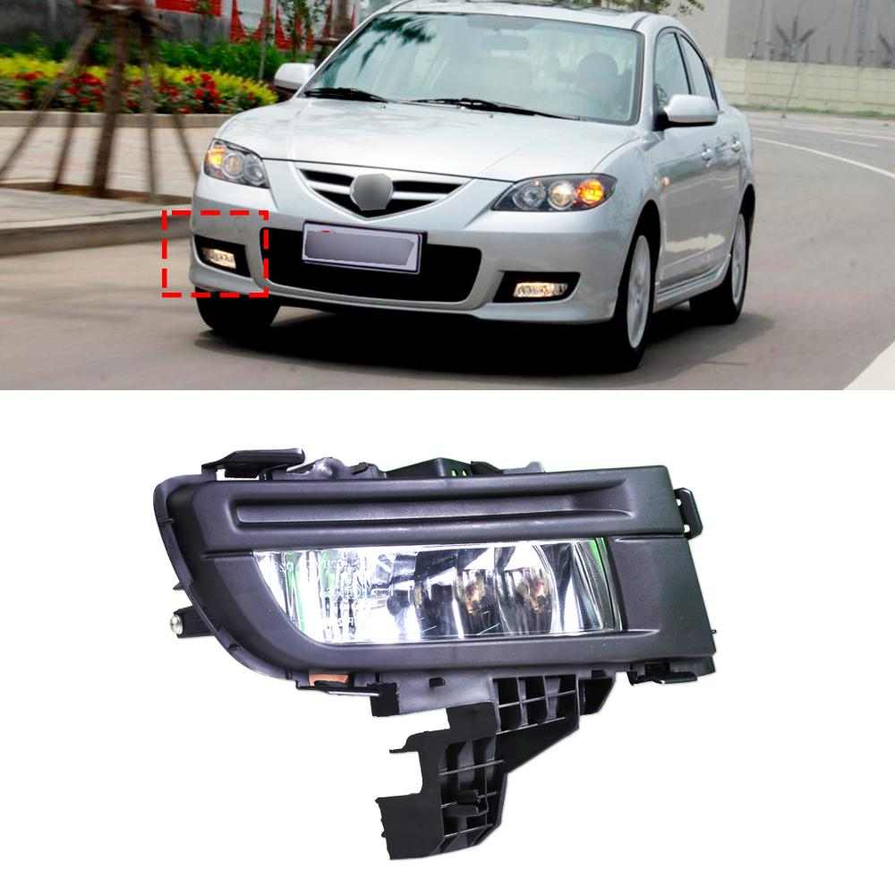 Hot sale! Front Right Fog Light Lamp Replacement Kit 12V 51W for Mazda 3 2010-2012  High Quality ABS Plastic &amp; Clear Le<br><br>Aliexpress