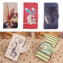 Exyuan Cartoon Painted Design Flip PU Leather Case For primux delta 4'' Cover  With Magnetic Clasp