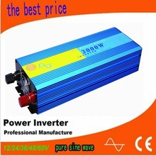 DC til AC konverter single phase 3000w pure sine wave dc to ac power inverter 12v to 220v