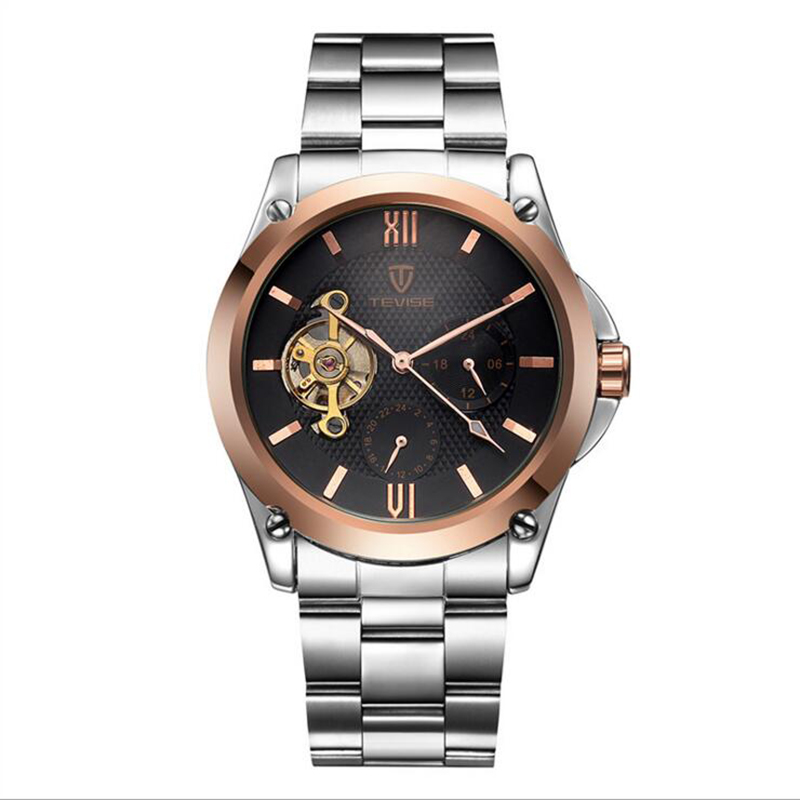 TEVISE 2017 Watches Genuine The New Fashion Mens Watch Belt Stainless Steel Mechanical Watches Waterproof Relogio Masculino<br><br>Aliexpress