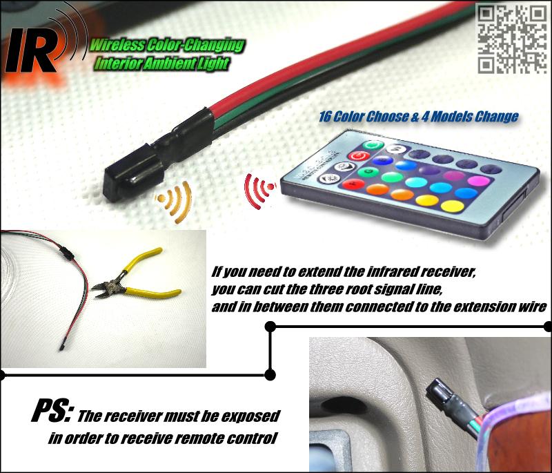 Wireless IR Control NOVOVISU Car Interior Ambient Instrument Panel Dashboard Light For Volvo V60 V50 XC60 XC90 XC70 V90 For ZAZ Receiver infromation