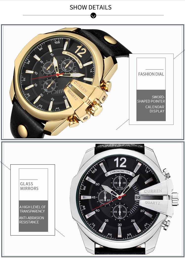 18 Style Fashion Watches Super Man Luxury Brand CURREN Watches Men Women Men's Watch Retro Quartz Relogio Masculion For Gift 10