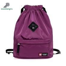 Zuoxiangru cordón Festival bolsa mochila de Nylon para gimnasio Fitness  deportes Yoga viajes mujeres niñas estudiante 3c7bb68425e6e